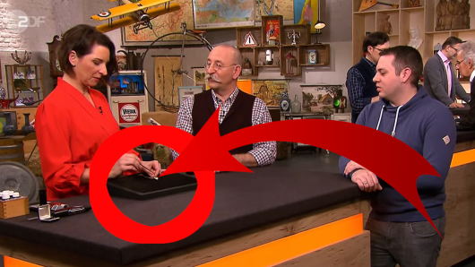 """Bei """"Bares für Rares"""" im ZDF wollte ein Mann aus NRW Schmuggelware verkaufen."""
