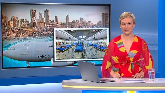 Drama im Frühstücksfernsehen: Karen Heinrichs musste als Nachrichtensprecherin einspringen.