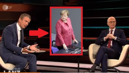 Markus Lanz diskutiert im ZDF mit PeterTschentscher über Angela Merkel.