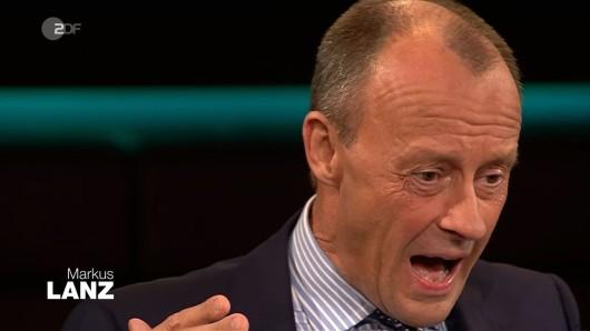 Friedrich Merz sehr energisch in der ZDF-Talkshow Markus Lanz.
