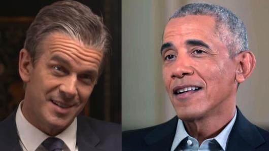 Markus Lanz interviewt Barack Obama in Washington.