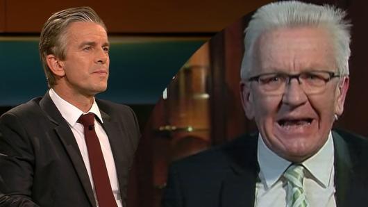 Ein aufgebrachter Ministerpräsident Kretschmann bei Markus Lanz (ZDF). Der Politiker diskutierte via Videoschalte in der Sendung mit.