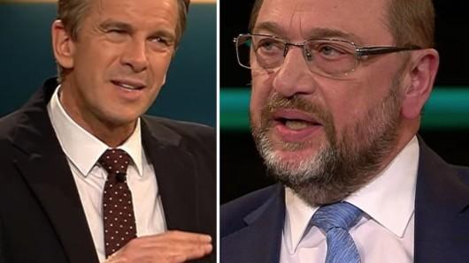 ZDF-Moderator Markus Lanz und SPD-Politiker Martin Schulz.