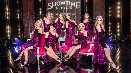 """Für die Vox-Show """"Showtime of my Life"""" lassen gleich mehrere Promi-Ladys die Hüllen fallen."""