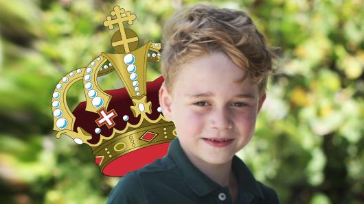 Eines Tages soll Prinz George in die Fußstapfen seiner Urgroßmutter treten und selbst auf dem Thron sitzen.