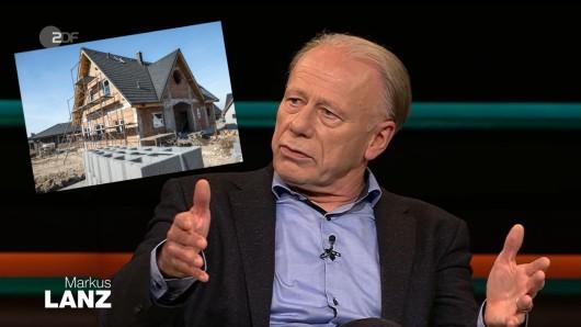 Markus Lanz (ZDF): Jürgen Trittin musste das Eigenheim-Eigentor der Grünen rechtfertigen.