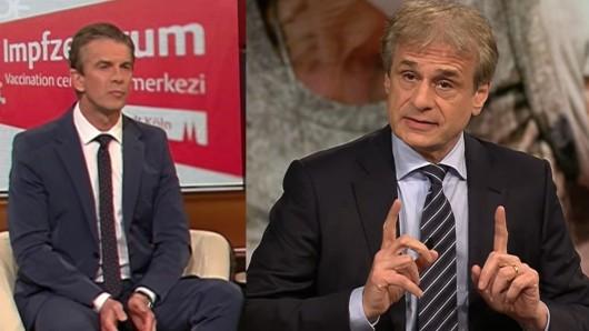 Virologe Alexander Kekulé zu Gast bei ZDF-Talker Markus Lanz.