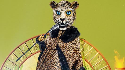 """Der Leopard will bei """"The Masked Singer"""" zubeißen."""
