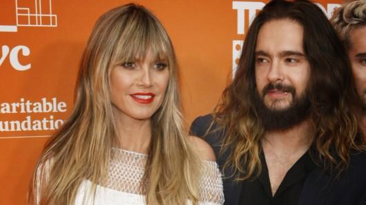 """Heidi Klum hat Ehemann Tom Kaulitz zu """"Germany's next Topmodel"""" eingeladen. Seine Reaktion spricht Bände."""