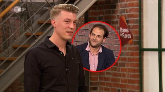"""""""Bares für Rares""""-Kandidat Daniel Wruß ging mit 2.700 Euro nach Hause. Dabei hätte er noch viel mehr von Händler Julian Schmitz-Avila fordern können."""