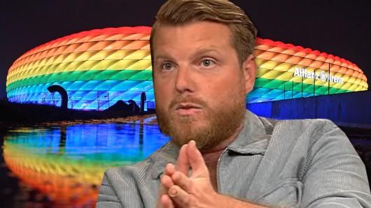Fußball-Experte Lucas Vogelsang diskutierte bei Markus Lanz über den Streit über die Regenbogen-Arena in München.