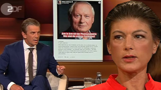 Sahra Wagenknecht zu Gast bei Markus Lanz. Es ging auch um ihren Ehemann Oskar Lafontaine.