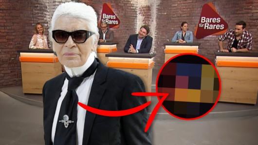 """Die """"Bares für Rares""""-Händler staunen, als sie DIESES Objekt von Modeschöpfer Karl Lagerfeld vor sich sehen."""