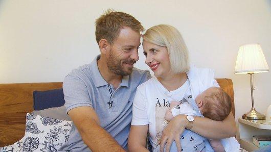 Bauer sucht Frau: Im Januar 2021 wurden Gerald und Anna Heiser Eltern eines kleinen Jungen.