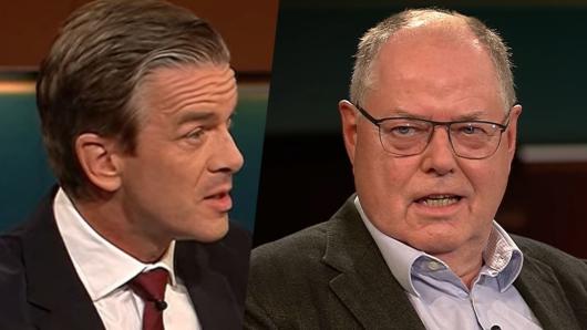 Peer Steinbrück zu Gast bei Markus Lanz.