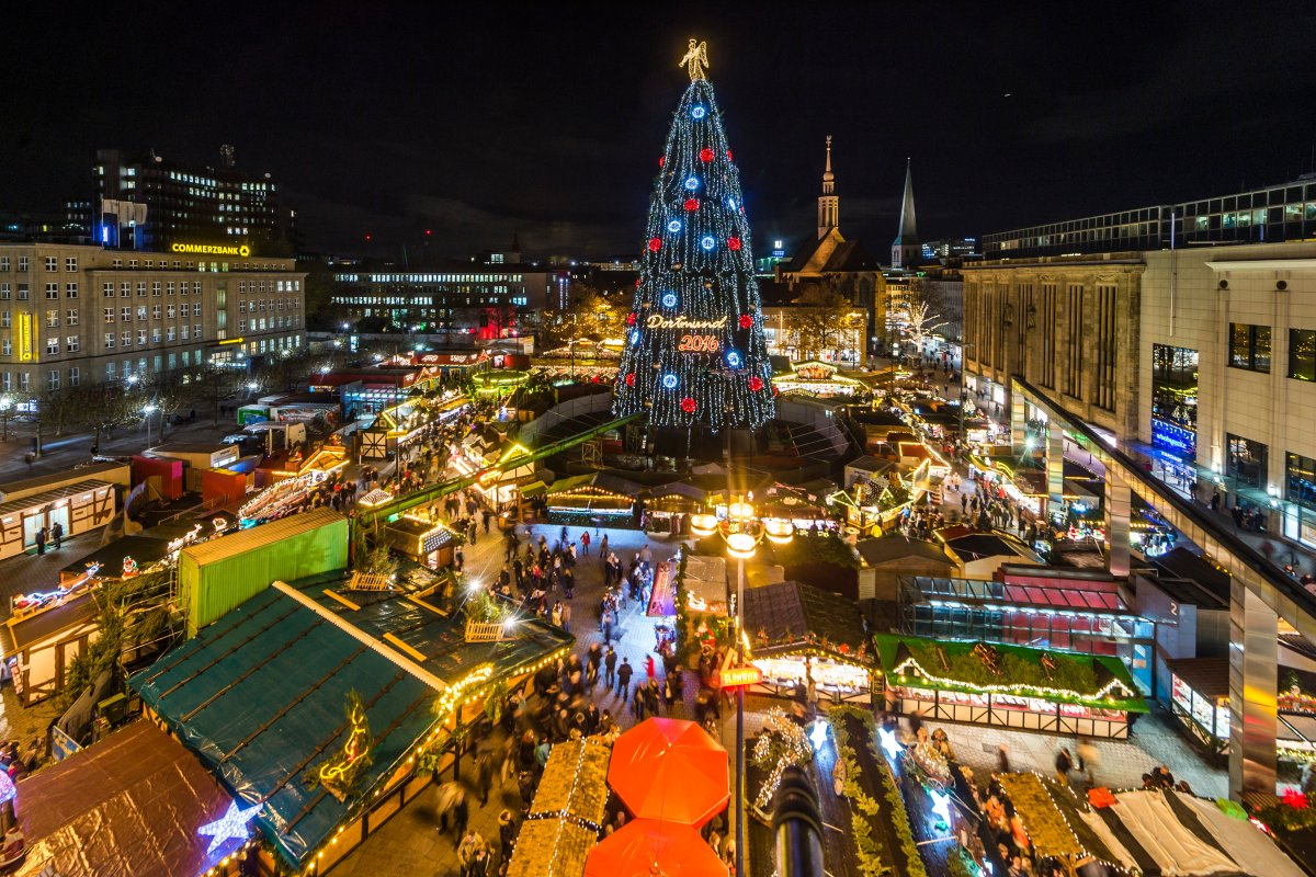 Dortmund Weihnachtsmarkt.Bei Dieser Frau Rief Dortmunder Weihnachtsmarkt Hass Hervor