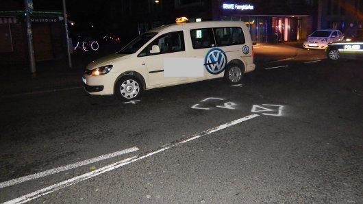 Die Mainzerin (26) wurde von einem Taxi angefahren.
