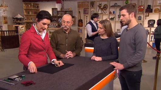 Wendela Horz, Horst Lichter, Ann-Christin und Andre bei der Expertise.