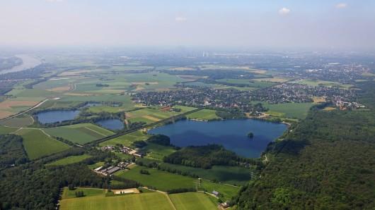 Der Baggersee in Angermund.