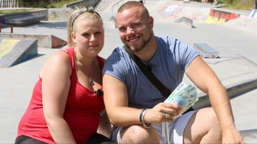 Nathalie und Christian aus Frankfurt erwarten ein Baby.