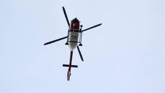 Ein Rettungshubschrauber ist in Hagen im Einsatz. (Symbolbild)