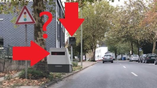 Auf der Velberter Straße in Mettmann stehen zwei Blitzer direkt nebeneinander.