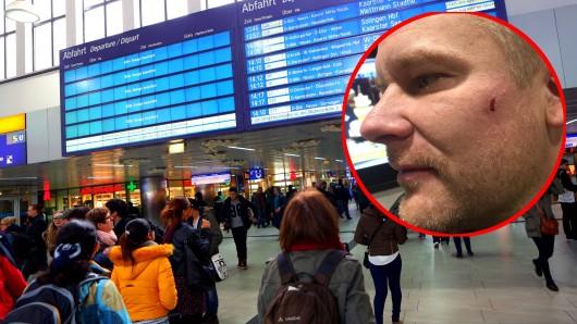 Ein Mann wurde von einer McDonald's-Mitarbeiterin im Hauptbahnhof Düsseldorf mehrfach geschlagen.