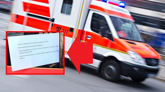 Die Feuerwehr in Herne hat eine besondere Botschaft erhalten.