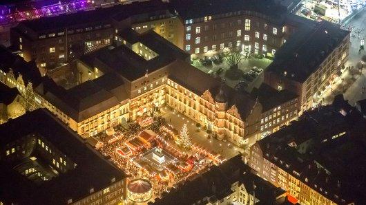 Der Weihnachtsmarkt Düsseldorf besteht aus mehreren Themenmärkten.