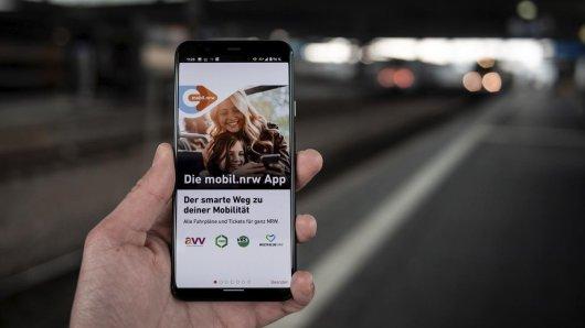 """Deutsche Bahn: In der App """"mobil.nrw"""" sind Ticketkäufe aus allen Verkehrsverbünden von NRW möglich."""