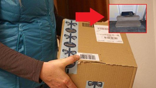 Eine Frau aus NRW entdeckte ihr Amazon-Paket an  einem ungewöhnlichen Ort.