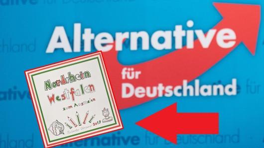 AfD: Bei einem Bürgerdialog verteilte die Partei in NRW ein Malbuch für Kinder. Der Inhalt ist mehr als verstörend.