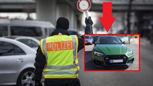 Als die Polizei in NRW den grünen Wagen kontrollierte, staunte sie nicht schlecht.