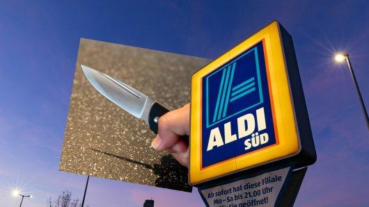 Bei Aldi in einer NRW-Filiale gab es einen Polizei-Einsatz mit einer irren Idee.
