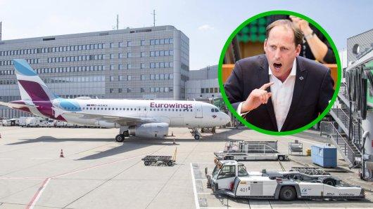 Auf einer Podiumsdiskussion hat sich der OB-Kandidat der Grünen zum Flughafen Düsseldorf geäußert – und eine interessante Aussage von sich gegeben.