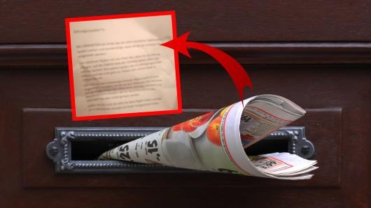 Ein Zeitungsbote findet in NRW einen dreisten Beschwerdebrief. (Symbolbild)