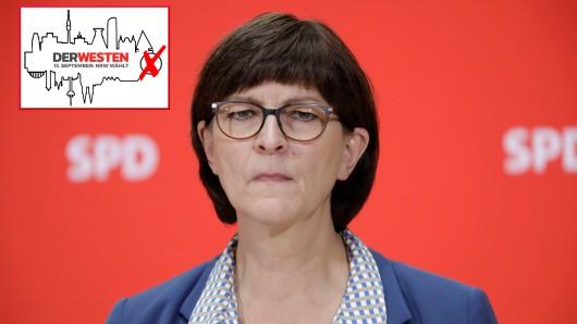 Über die Kommunwahl kann SPD-Chefin Saskia Esken nicht zufrieden sein. Ist sie auch nicht...