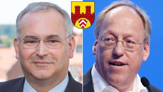 Duell zwischen Pit Clausen (SPD, rechts) und Ralf Nettelstroth (CDU).