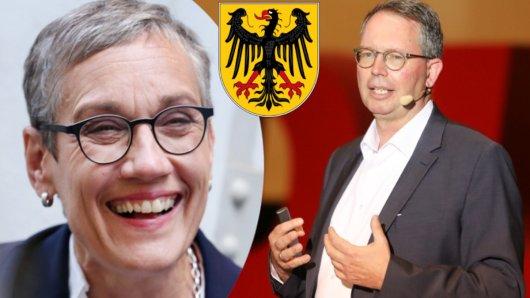 OB-Stichwahl in Aachen: Sibylle Keupen kandidiert für die Grünen, Harald Baal für die CDU.