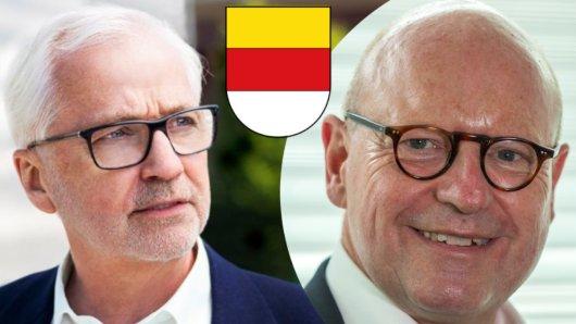 Spannendes OB-Duell in der Stichwahl in Münster: Markus Lewe von der CDU (rechts) gegen Peter Todeskino von den Grünen.