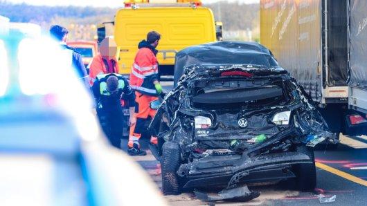 Auf der A45 kam es zu einem heftigen Unfall. Derzeit herrscht Stau.