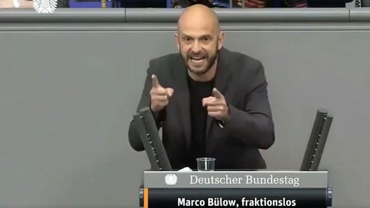 Der Dortmunder Marco Bülow mit Wut-Rede im Bundestag.