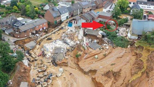 Erftstadt: Eine Frau lebt direkt neben dem Krater. Ein Großteil ihrer Nachbarschaft wurde weggeschwemmt.