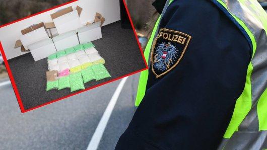 A40 bei Kleve: Eine gewaltige Menge an Drogen stellten Polizisten bei drei Jugendlichen sicher.