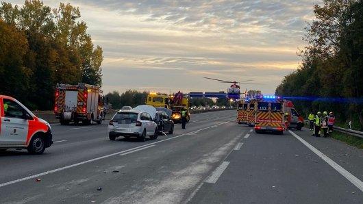 Einen schweren Unfall hat es auf der A1 in NRW am Kamener Kreuz gegeben.