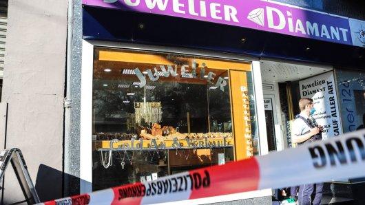 In Hagen wurde dieser Juwelier das Ziel eines Räubers. Der Inhaber wurde schwerverletzt.