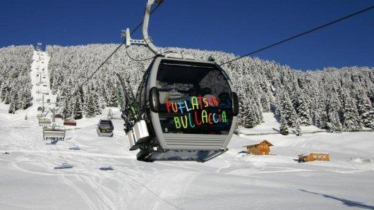 Hinauf zum Puflatsch - hier finden begeisterte Skifahrer auch eine schwarze Piste.