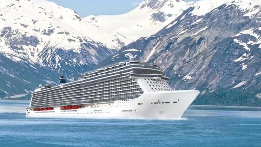 Einsatz im hohen Norden: Die Reederei Norwegian Cruise Line lässt das Kreuzfahrtschiff Norwegian Bliss speziell für Alaska-Routen bauen.