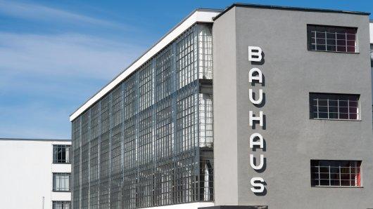 Sachsen-Anhalt, Dessau-Roßlau: Das Bauhausgebäude.