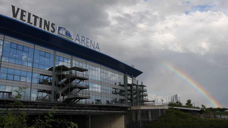 Die Veltins-Arena auf Schalke.